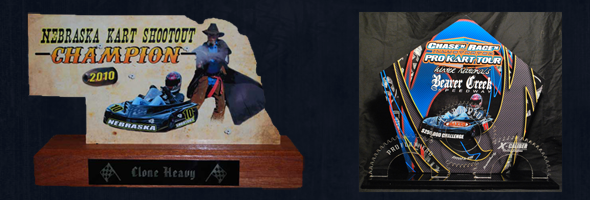 Custom 3D Acrylic Award, Custom Karting Awards
